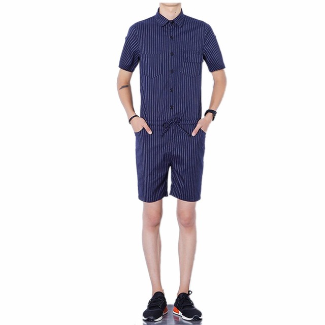 Tulum Erkekler kısa pantolon pamuk tulum Ince Tulum Tulum Yaz Tek Parça Takım Elbise Setleri Artı Boyutu 4XL Erkekler Pantolon Ter Pantolon