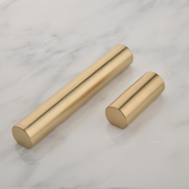 2pcs/lot Brass Cabinet Handle Round Door Handle Drawer Door Pulls Luxury Furniture Accessory Free Shipping