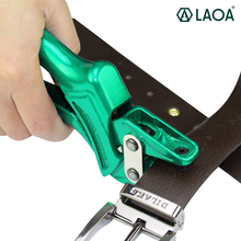 LAOA Green Color Hole Puncher Punching Forceps For Belt Card Snap Button Eyelet Punch Pliers