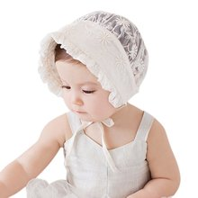 Toddlers Baby Girls Boys Lace Flower Hollow Hat Cap Soft Bonnet Sunhat Hats 0-3Y