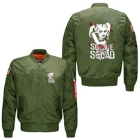 Spring Men Bomber Flight Jacket Coat Suicide Squad Harley Quinn Joker Men S Lensuire Baseball Uniform