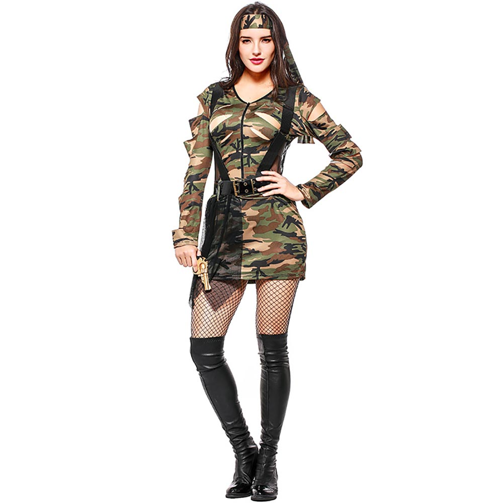 Sexy Women Soldier Costume Jungle Game Army Girl Combat Camouflage Uniform Ripped Camo Dress With Belt Halloween Fancy Dress-in Game Costumes from Novelty ...  sc 1 st  AliExpress.com & Sexy Women Soldier Costume Jungle Game Army Girl Combat Camouflage ...