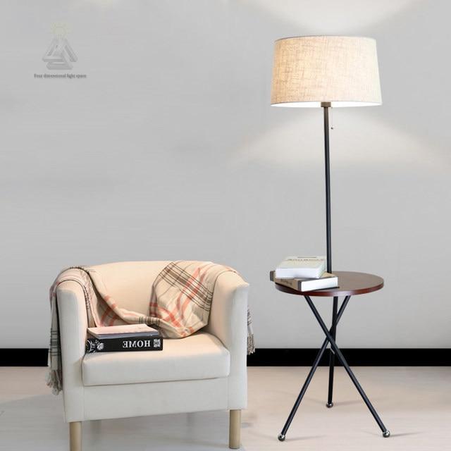 Online Shop Moderne Houten Tafel Vloerlamp 5 W Led Lamp Woonkamer ...