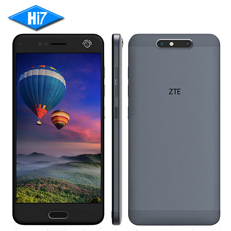 NEW Original ZTE Blade V8 5.2'' Mobile Phone Qualcomm Octa Core 4GB RAM 64GB ROM Dual Back Camera 13.0MP+2.0MP 2730mAh