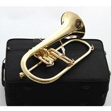 Музыка Fancier клуб профессиональный Япония flugelhorn 8310Z золотой лак с чехол для профессиональных flugelhorn s Bb желтый Латунный Колокольчик