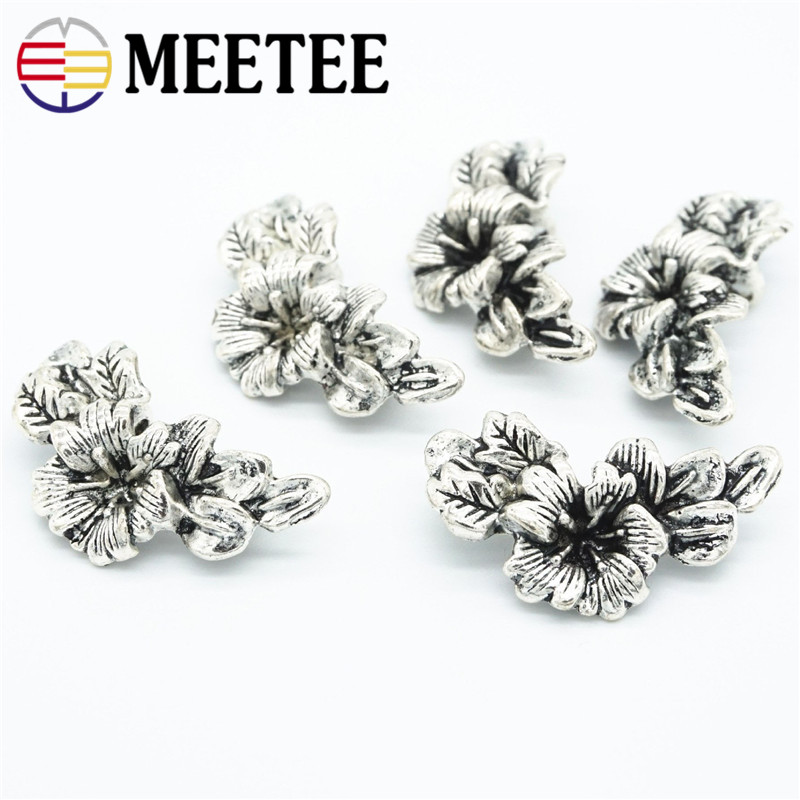 Apparel Sewing & Fabric Home & Garden Meetee 20pcs 29*16mm Flower Leaf Retro Metal Button For Coat Women Men Suits Buttons Decoration Diy Sewing Accessories Zk869