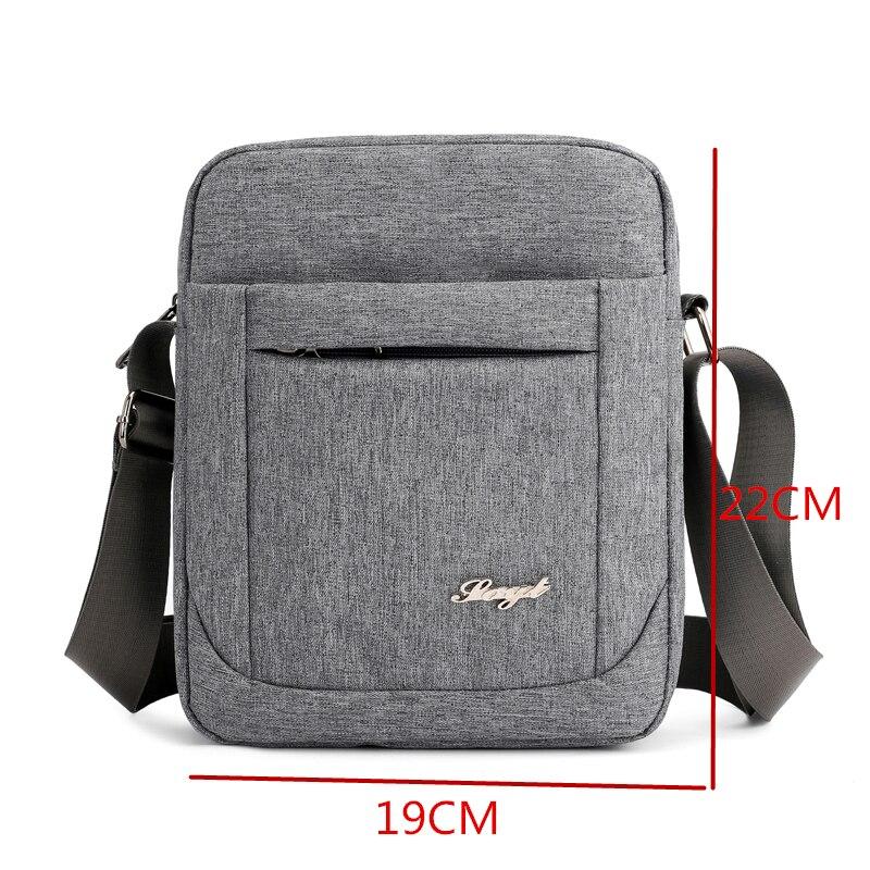 Solid Flap Bag College style Nylon Messenger Bag for Men Contracted Joker  Crossbody Bag Lightweight Practical Shoulder Bag 3435cb1609da3