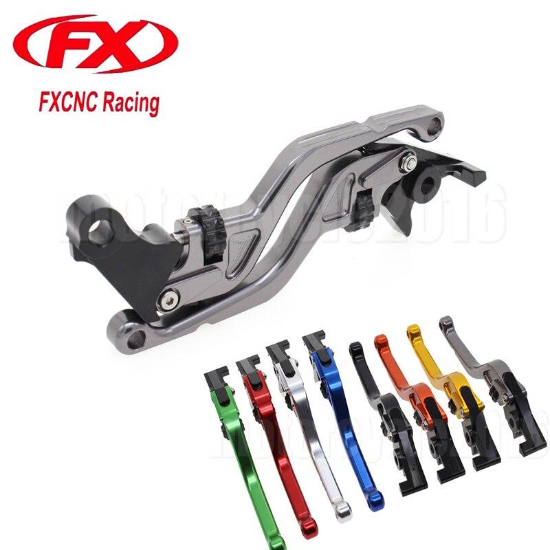 FXCNC CNC Aluminum Thumb Wheel Motorcycle Roller Brake Clutch Lever For Suzuki GSR750 GSXS750 2011-2016 2012 2013 2014 2015