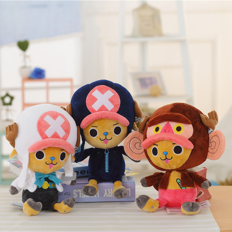 30cm Plush Chopper Toys One Piece Luffy Soft Doll Stuffed Japanese Anime Figure Kids Toys High Quality Gift For Children Boy