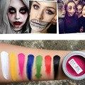 Pintura de corpo Tatuagem Flash Cor Pintura A Óleo Art Make Up Festa de Halloween do Vestido Extravagante Makeup Tools 7 cores Não Tóxico Seguro rosto