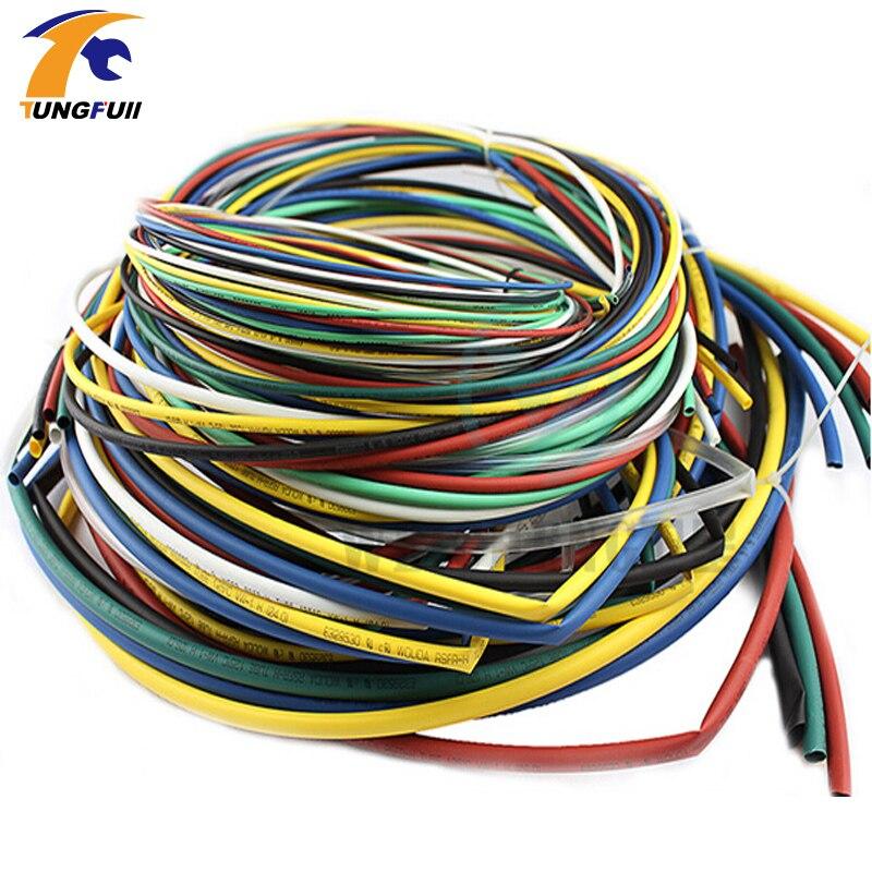 Schrumpf Schläuche Kit 3 m/14 m/27 m/58 m Isolierung Schrumpf Schlauch Sortiment Elektronische polyolefin Verhältnis 2:1 Wrap Draht Kabel