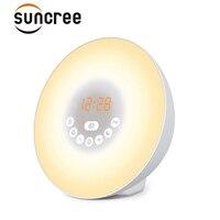 Sunrise Alarm Clock Wake Up Light Alarm Clock with 6 Nature Sounds,FM Radio,7 Colors Night Light,Smart Snooze/bluetooth Function