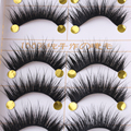 New Long 5 Pairs Makeup Beauty False Eyelashes Thick Cross Eye Lashes Make Up Extension Cosmetics