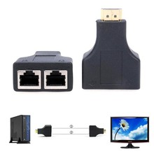 цена на 1Pair HDMI Over RJ45 CAT5e CAT6 UTP LAN Ethernet Balun Extender Repeater 1080p 3D HDMI Adapter High Quality HDMI Converter