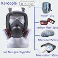 55в1 противогазовая маска 6800 полный респиратор живопись распыления Сварочная маска против пыли Деревообработка защитное оборудование