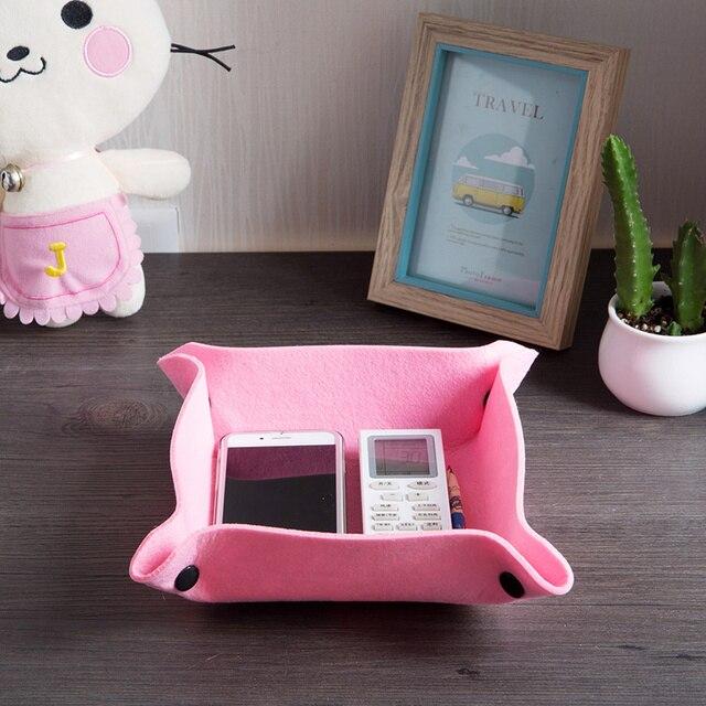 Incroyable Fashion Storage Box Home Furnishing Felt Button Folding Desk Sundries  Organizer Waterproof Multipurpose Storage Box Plate