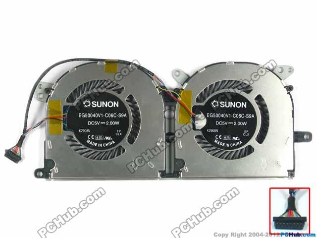 SUNON EG50040V1-C06C-S9A DC 5V 2.00W 8-wire 8-pin Server Laptop Fan free shipping for sunon kde0505phb2 dc 5v 1 9w 2 wire 3 pin 50x50x15mm server square fan
