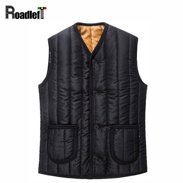 Forro de pelúcia inverno masculino engrossar algodão quente coletes formais dos homens jaqueta de Marca sem mangas colete vest Men gilet colete yelek