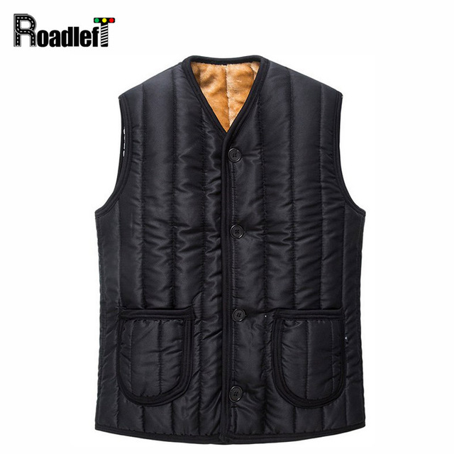 Male winter plush liner thicken cotton warm formal vests Men's Brand sleeveless jacket waistcoat vest Men gilet yelek colete