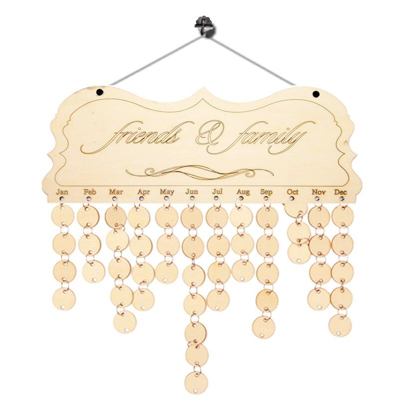DIY Přizpůsobené Dřevěné řemeslo Kalendář Retro Věšáky Domů Dekor Vintage Personalizované Ornament Obývací pokoj Denně Starý Dřevěný Kalendář