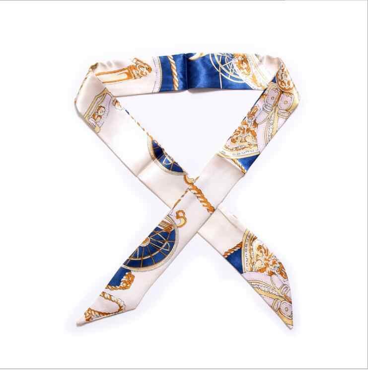 34 couleurs nouvelle soie petites femmes mode écharpe cheveux sacs poignée décoration cravate multifonction main ruban écharpe 4*100 cm