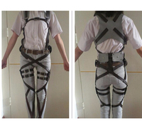 Cool Cosplay SNK Attack On Titan Shingeki No Kyojin Harness Belt Hookshot C Costume
