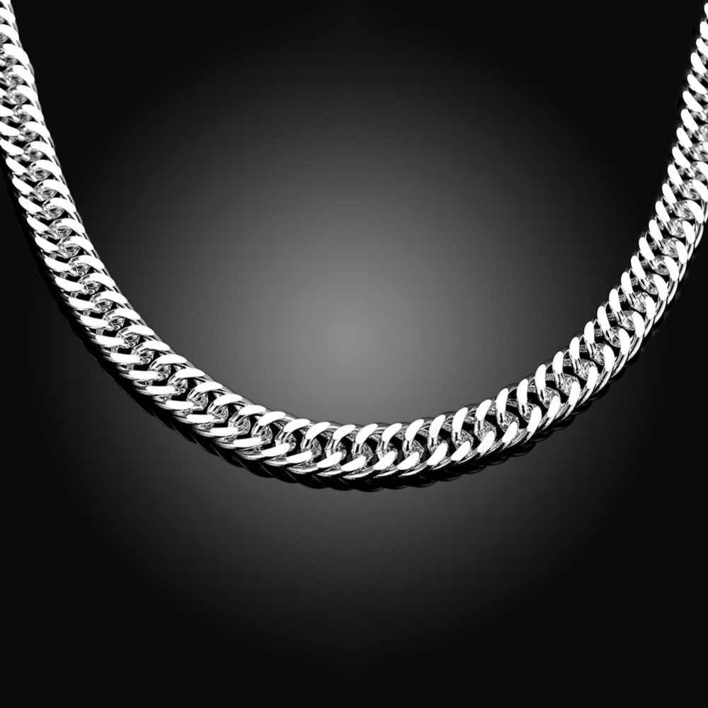 Hot selling new 2014 jewelry, 925 sterling silver jewelry necklaces and pendants 10 mm wide jewelry men necklace high quality ..