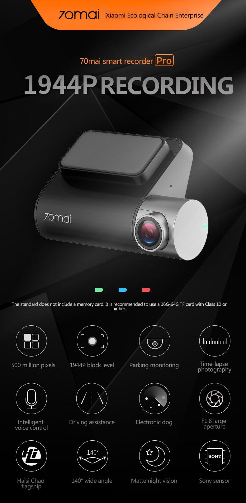 ADAS Dvr Camera Xiaomi 2