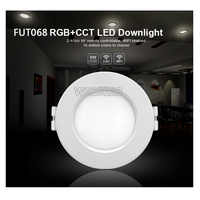 Milight 6W LED Downlight AC100-240V FUT068 regulable RGB + AAC empotrada Llevó Las Luces del panel compatible FUT092 remoto WIFI APP control