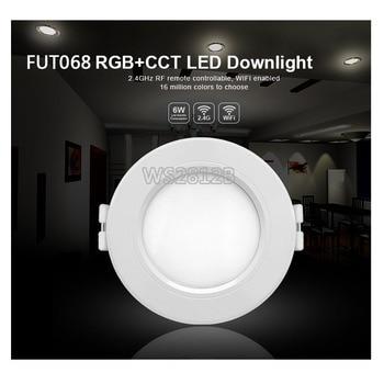 Smart 6W Rgb + Cct Led Downlight 110V 220V Dimbare Verzonken Led Plafond Verlichting Compatibel FUT092 Remote/Wifi App Controle