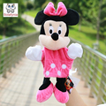 Infant Children Hand Puppet cartoon pink minnie with foot kids baby plush Stuffed Toy Puppets toys Christmas birthday gift