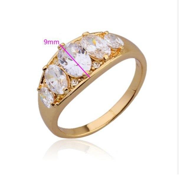 MxGxFam драгоценные стразы кольцо со специальным дизайном для девочки желтого золота