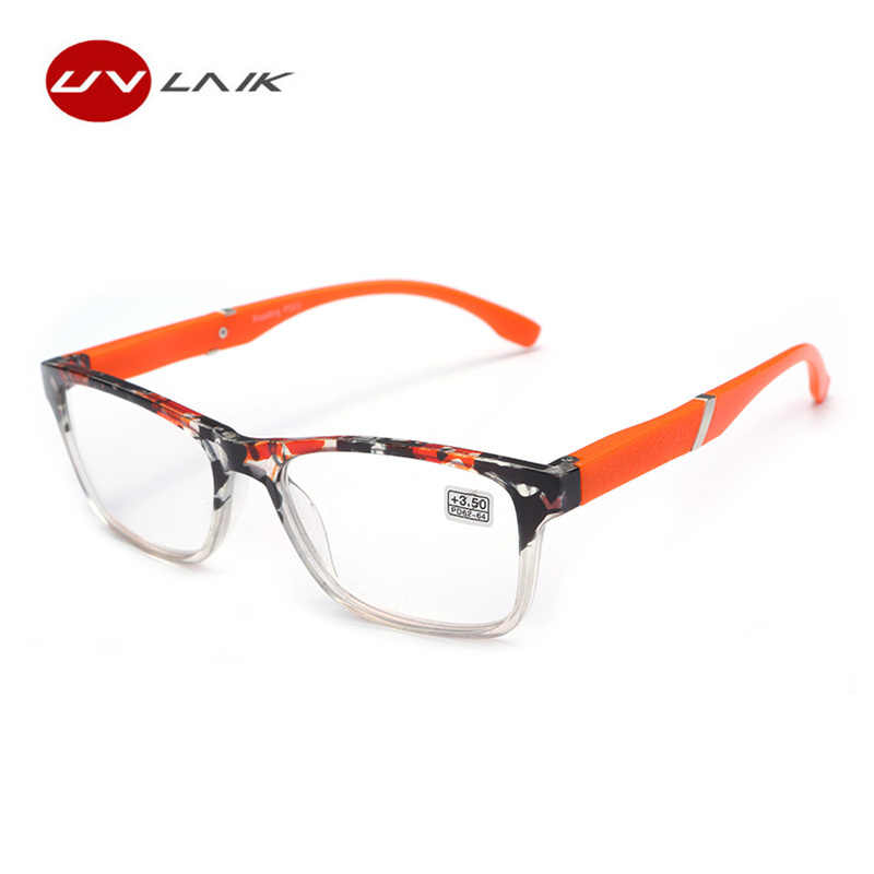 UVLAIK  Fashion Hyperopia Reading Glasses Men Women HD Resin Lens Presbyopic Reading Glasses 1.5 +2.0 +2.5 +3.0 +3.5+4.0