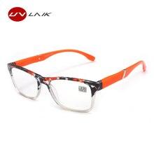 UVLAIK Moda Das Mulheres Dos Homens Óculos de Leitura Hipermetropia HD  Lente de Resina Óculos de b08db33236