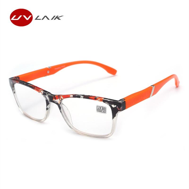 UVLAIK Fashion Hyperopia Reading Glasses Men Women Resin Lens Presbyopic Reading Glasses 1.5 +2.0 +2.5 +3.0 +3.5+4.0