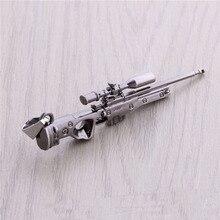 CS GO AMW AK47 Weapon Metal Necklaces Men Gun Leather Chain Neclace CSGO Collier Homme Male Neckless Best Friends Vintage Jewlry