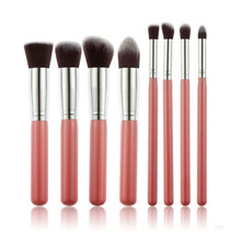 8pcs/lot profesional cosmetic brush beauty tools cleaner kit blending oval set powder trucco eyeshadow kabuki sgm naked sets