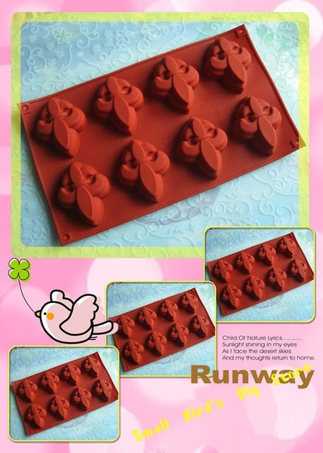 free shipping/food grade silicone 8 flower cake mould/Pudding and Jelly Cup/ice cream mold/soap mold/pastry mould