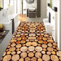 Free Shipping custom floor wallpaper Wood 3D stereo wallpaper bathroom bedroom living room wear floor painting