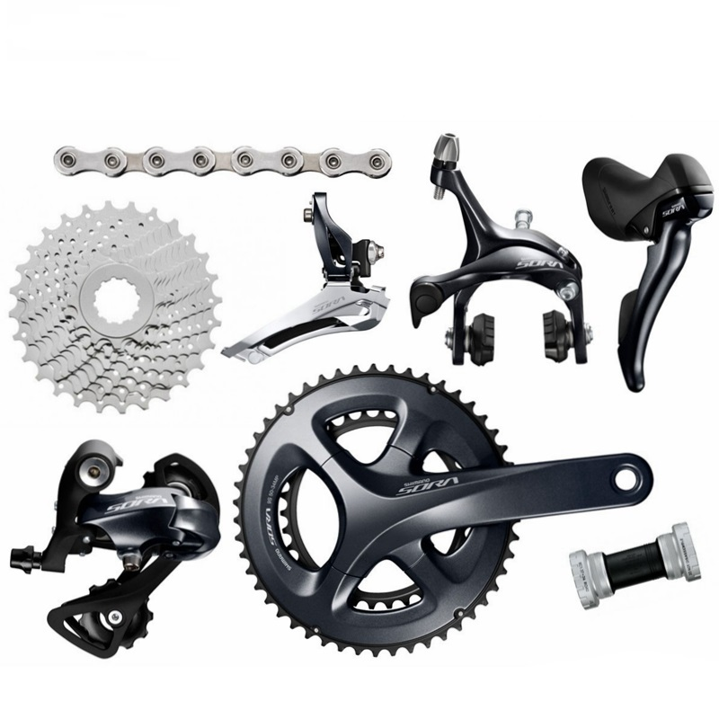 Shimano SORA R3000 2x9 Speed 9s Groupset road bike bicycle groupset Bicycle Parts 170mm 50 34T