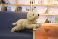 large 60cm light brown Labrador prone dog plush toy soft doll sleeping pillow Christmas gift b1887