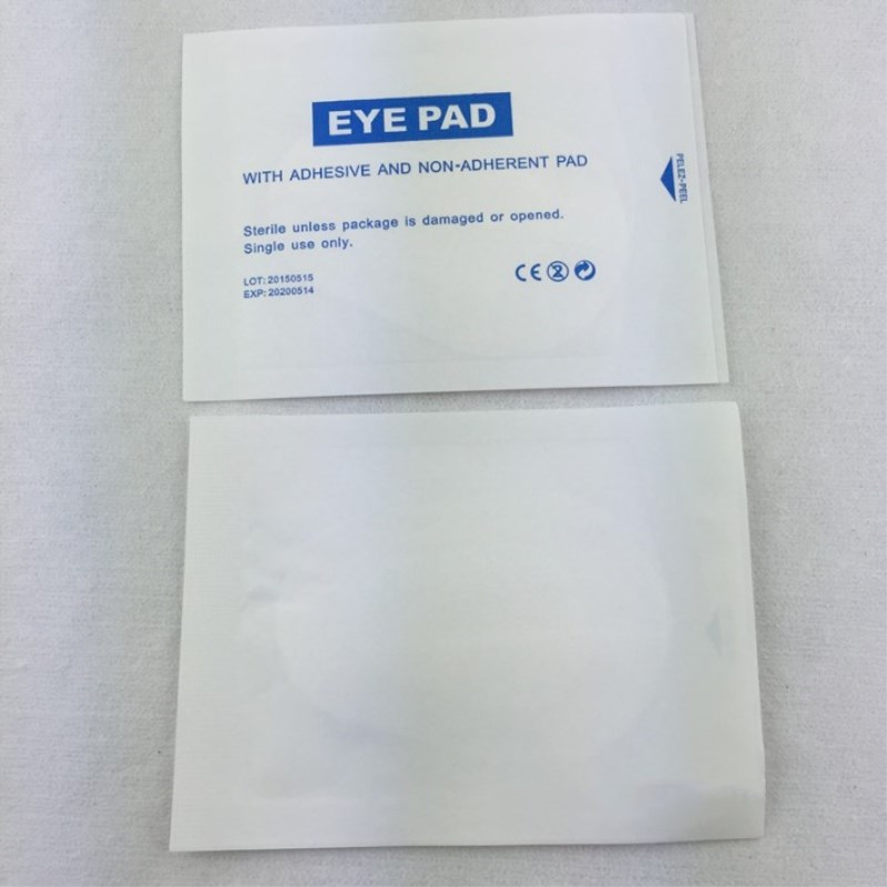 20 Pcs 8.2x5.7 Cm Sterile Nonwoven Eye Pads Disinfection Eye Patch Stickers Medical Self-adhesive Non-woven Wound Dressings