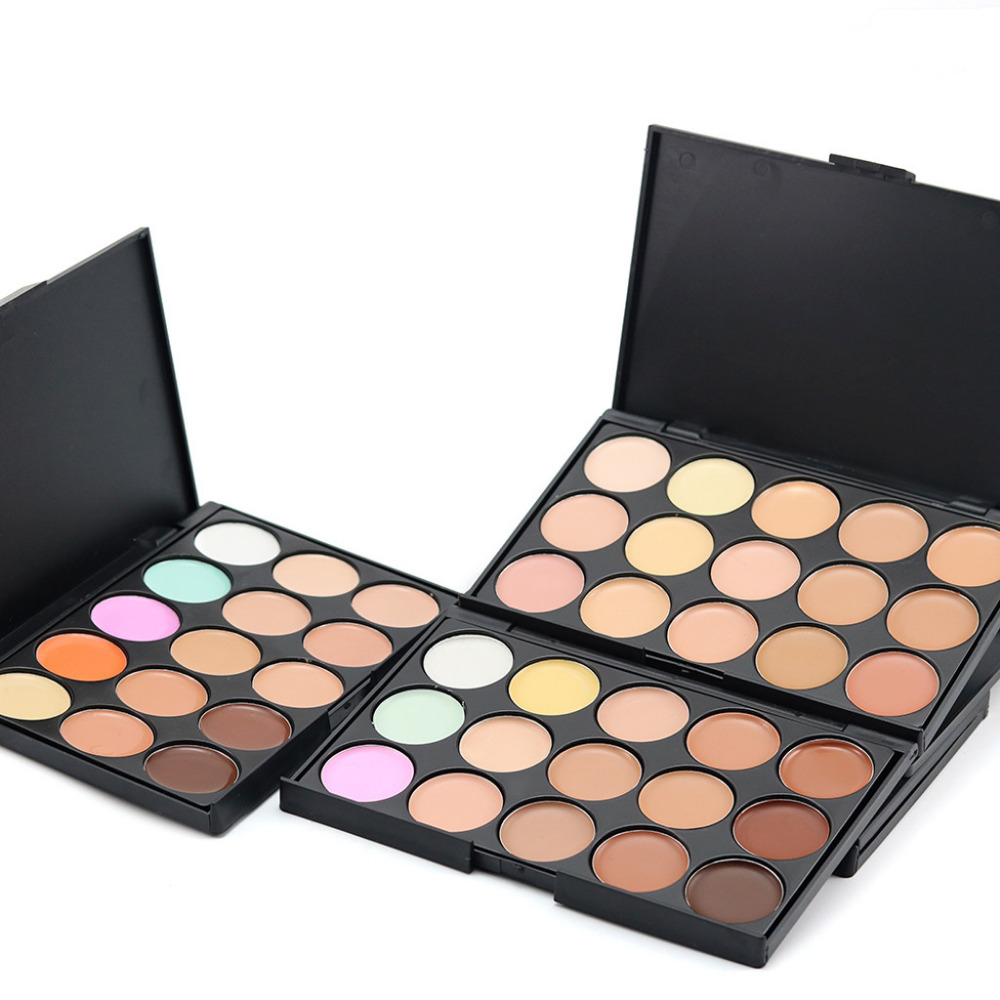 15 Colors Face Concealer Palette And Brush Set Smoky Balm Cosmetic Camouflage Cream Contour Palette beauty girl gift Newest