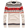 Printed Pullover Men Brand Sweater Men 2016 Clothing Striped Long Sleeve Mens Sweaters Fashion Man Asian size M-XXL UW305
