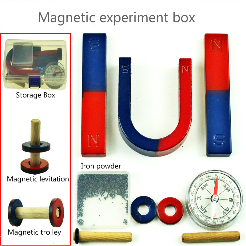 Magnetic Experiment Box Magnet Teaching Tool Kit Magnetic Levitation Demonstration Kit Compass Combination For Kids Toys 1setMagnetic Experiment Box Magnet Teaching Tool Kit Magnetic Levitation Demonstration Kit Compass Combination For Kids Toys 1set