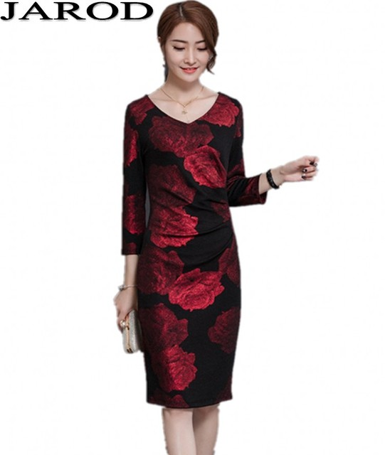 2017 frauen Langarm Kleid Plus Größe Bleistift Elegante Büro Kleid ...
