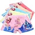 5 unids/lote niños niñas bragas de dibujos animados elsa carácter ropa niños boxer underwear fibra de la leche de algodón de color rosa para 3-11 años ku02