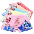 5Pcs/lot Kids Girls Cartoon Panties Elsa Character Clothing Children Boxer Underwear Cotton Pink Milk Fiber For 3-11 Years KU02
