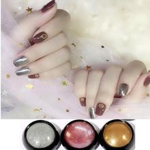 7 Colors Nail Mirror Powder Rose Gold,Sliver,Gold Chrome Pigment Dipping Powders For Nails Art Ultra Shiny Manicure Tips