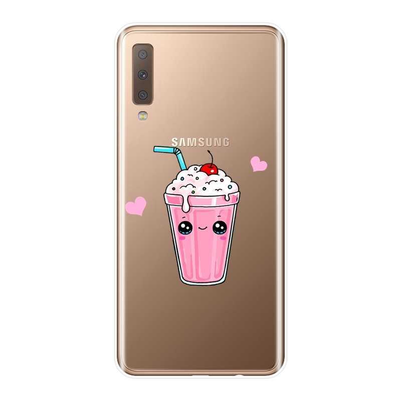 Задняя крышка для samsung Galaxy A3 A5 2016 2017 A6 A7 A8 2018 мороженое напиток силикон мягкий чехол для телефона для samsung A6 A8 плюс 2018
